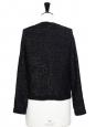 Black cotton and lurex jacket Size 36