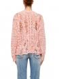 Pull SIDIQ en maille crochet ajouré de lin rose bonbon Prix boutique 350 Taille S