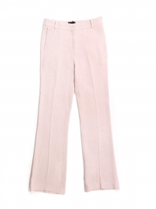 Light pink crêpe straight leg pants Retail price €640 Size 34