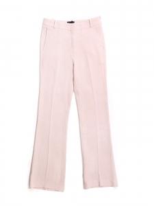 Light pink crêpe straight leg pants Retail price €640 Size 34