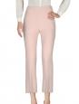Pantalon droit en crêpe rose pâle Prix boutique 640€ Taille 34
