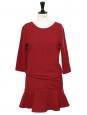 Robe ISLA à volants rouge bordeaux do nu Prix boutique 210€ Taille 1