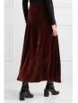 Jupe longue à fente taille haute en velours rouge bordeaux Prix boutique 235€ Taille 34