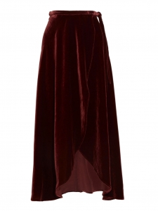 Burgundy red maxi skirt Retail price €235 Size Xs