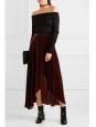 Burgundy red maxi skirt Retail price €235 Size Xs