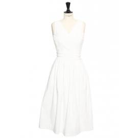 ROBIN White stretch crepe cutout back dress Retail price €1150 Size XS