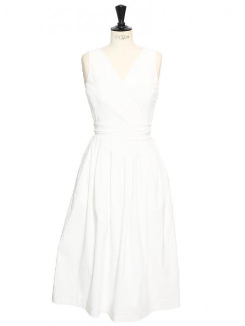 Robe ROBIN col V dos découpé en crêpe stretch blanc Px boutique 1150€ Taille 34