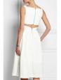 Robe ROBIN col V dos découpé en crêpe stretch blanc Px boutique 1150€ Taille 38