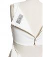 ROBIN White stretch crepe cutout back dress Retail price €1150 Size M