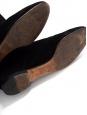 Bottes cuissardes en suède noir et découpe scallop Px boutique 1200€ Taille 40,5