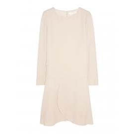 Robe manches longues en crêpe rose poudre Prix boutique 900€ Taille 42