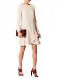 Robe manches longues en crêpe rose poudre Prix boutique 900€ Taille 40