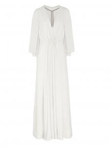 Robe de mariée longue décolleté plongeant V et manches longues Prix boutique $3,095 Taille 34