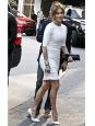 Escarpins PIGALLE talon stiletto en python blanc Prix boutique 995€ Taille 37,5
