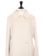 Manteau en cachemire, laine et angora beige rosé Prix boutique 1700€ Taille 42