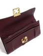 ELSIE Prune pebbled leather continental wallet Retail price €380