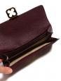 Portefeuille long ELSIE en cuir grainé prune et fermoir doré Px boutique 380€