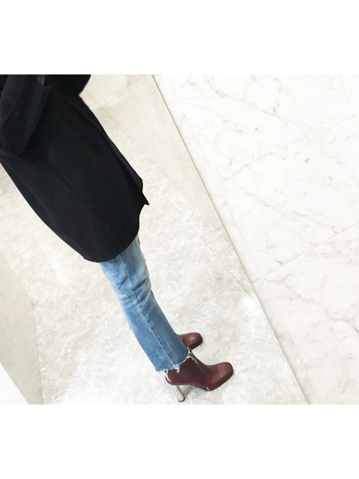 e073e4b796d Louise Paris - CELINE BAM BAM burgundy red leather ankle boots ...