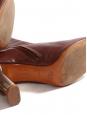 Bottines BAM BAM en cuir rouge bordeaux et talon argent Px boutique 730€ Taille 40,5