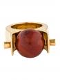 Bague ABBY en laiton doré et pierre rouge Prix boutique 470€ Taille 50