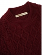Pull col rond en laine torsadée bleu nuit Px boutique 950€ Taille 36