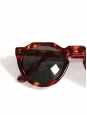 Lunettes de soleil PICAS K7 monture écaille rouge bordeaux et jaune Prix boutique 260€ NEUVES
