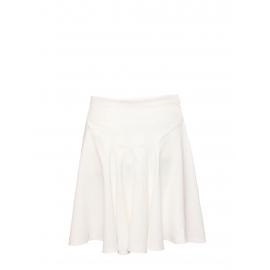 Jupe taille haute évasée en crêpe blanc Prix boutique 560€ Taille 36