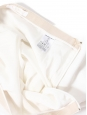 White ruffled hem crepe skirt Retail price €560 Size 38