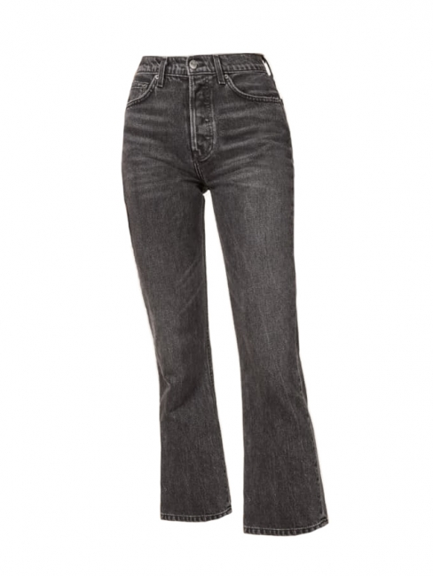 High waist Jordi Kick flare dark grey jeans Retail price $128 Size 24