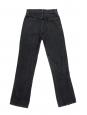 Jean taille haute Jordy Kick flare en coton gris foncé Prix boutique $128 Taille 24