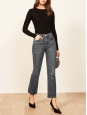 High waist Jordy Kick flare dark grey jeans Retail price $128 Size 24