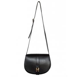 VANESSA SEWARD smooth black leather cross-body bag Retail price 430€
