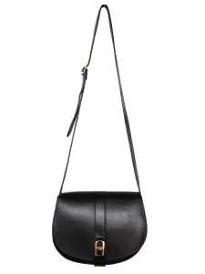 VANESSA SEWARD smooth black leather cross-body bag Retail price 430€