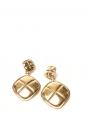 Boucles d'oreilles clip dorées double anneaux Prix boutique 1400€