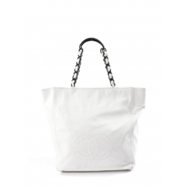 Sac large COCO cabas en cuir blanc Prix boutique 2000€