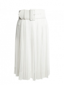 Textured polka dot white skirt Retail price €1400 Size 36