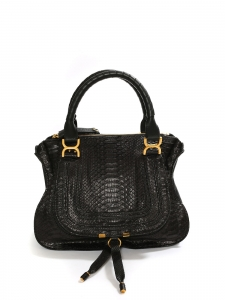 Black python medium Marcie shoulder bag Retail price 2450€
