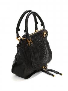 Black python medium Marcie shoulder bag Retail price 2450€