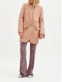 STELLA McCARTNEY BRYCE pink wool and cashmere coat Retail price €1340 Size 36