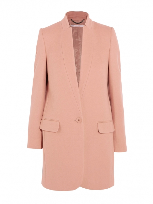BRYCE pink wool and cashmere coat Retail price €1340 Size 38
