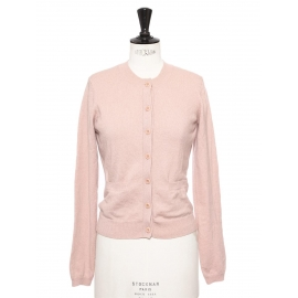 Soft pink knitted pure cashmere cardigan Retail price €200 Size S