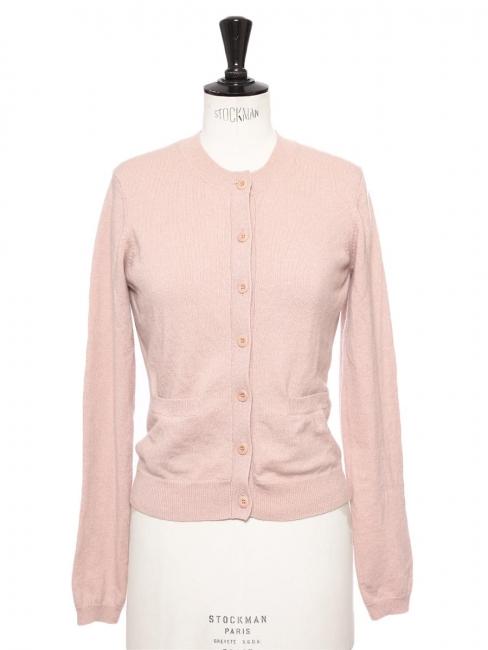 Gilet cardigan en pur cachemire rose anglais Px boutique Taille 36