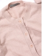 Gilet cardigan en pure cachemire rose anglais Taille 36