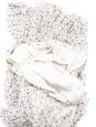 Jupe Strawberry longue plissée blanc crème imprimée noir Prix boutique 295€ Taille 36