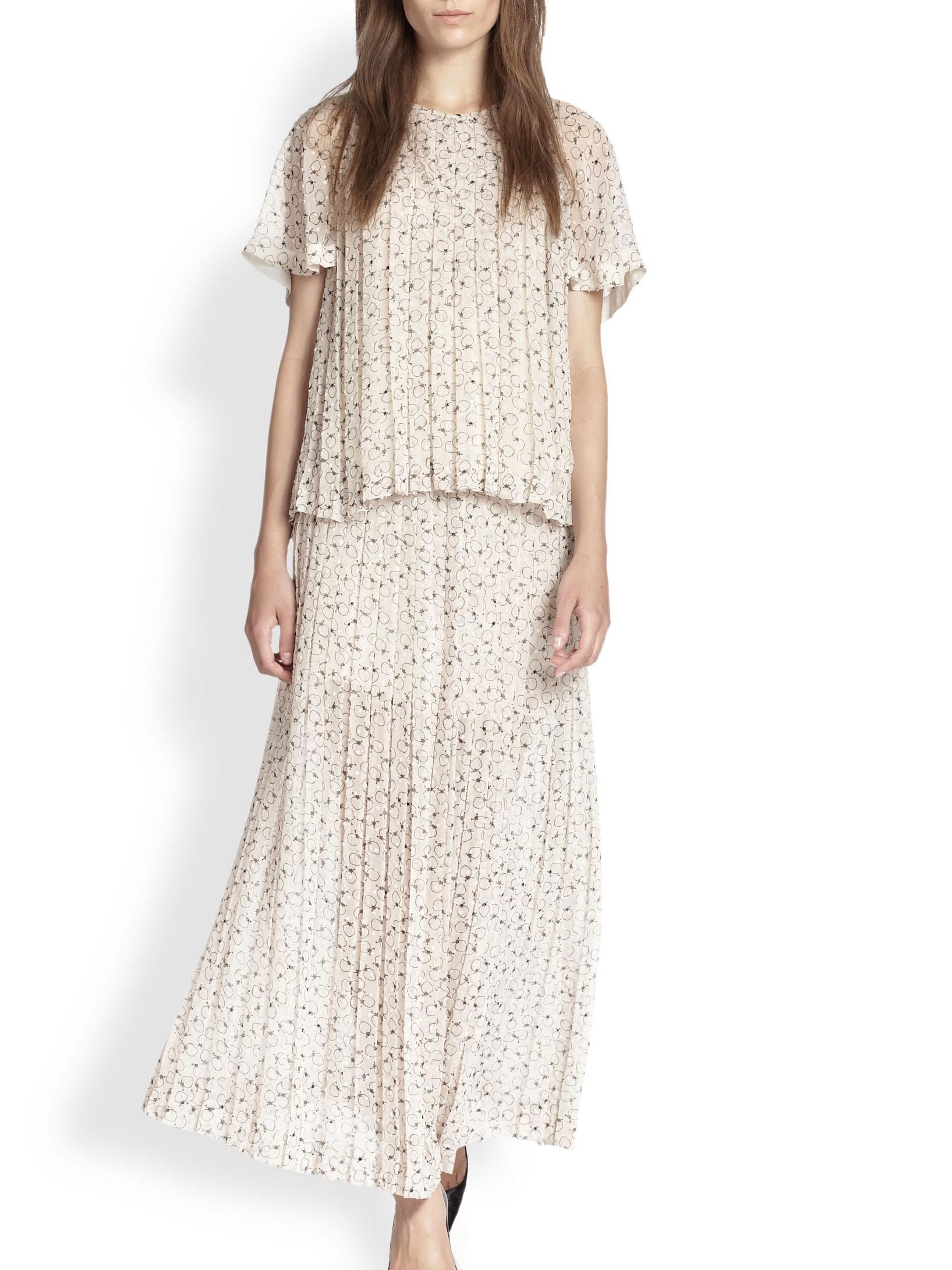 ... Jupe Strawberry longue plissée blanc crème imprimée noir Prix boutique  295€ Taille 36 ... fc94547578f