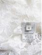 Top chemise manches longues en fine dentelle blanc ivoire Prix boutique 990€