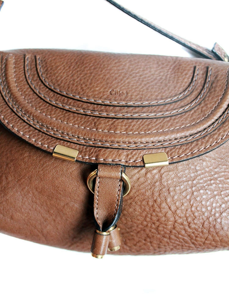 e8512109414 Louise Paris - CHLOE MARCIE small crossbody bag in nut brown leather NEW