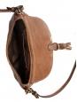 Petit sac à bandoulière / cross body MARCIE en cuir grainé marron