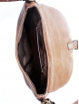 MARCIE small crossbody bag in nut brown leather NEW