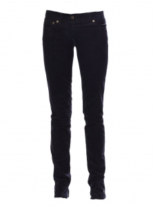 Midnight blue corduroy slim fit pants Retail price €550 Size 36